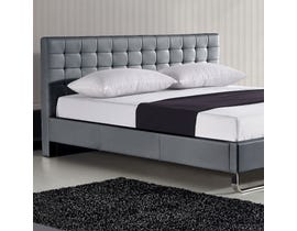 Sinca Metro Sleigh Tall King Platform Bed in Grey M17144