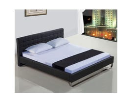 Sinca Metro Sleigh Tall Queen Platform Bed in Black M17135