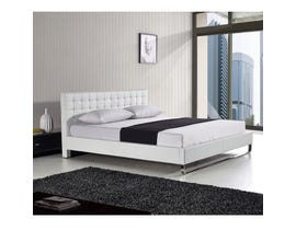 Sinca Metro Sleigh Tall King Platform Bed in white M17134