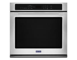 Maytag 27 inch 4.3 cu. ft. True Convection Single Wall Oven in Stainless Steel MEW9527FZ