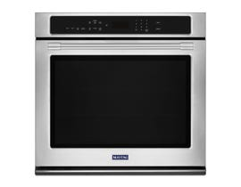 Maytag 30 Inch 5.0 cu.ft. Single Wall Oven with True Convection in stainless steel MEW9530FZ