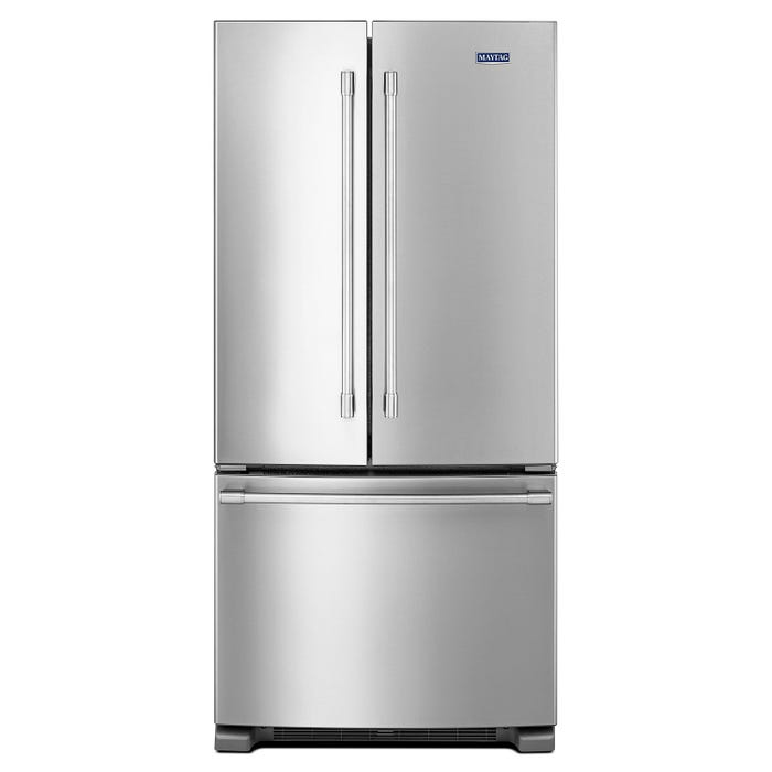 Maytag 33 inch 22 cu.ft. french doors refrigerator in stainless steel MFF2258FEZ