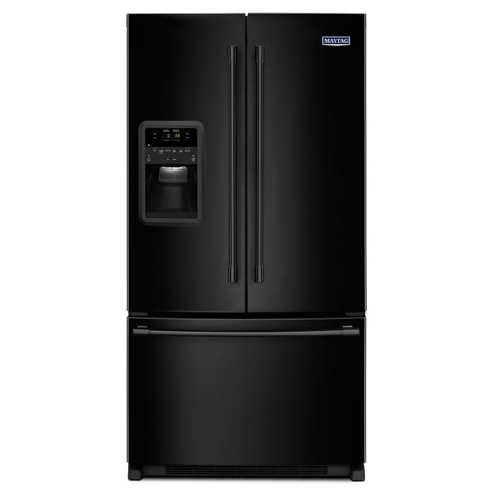 Maytag 33 inch 22 cu.ft. french door refrigerator in Black MFI2269FRB