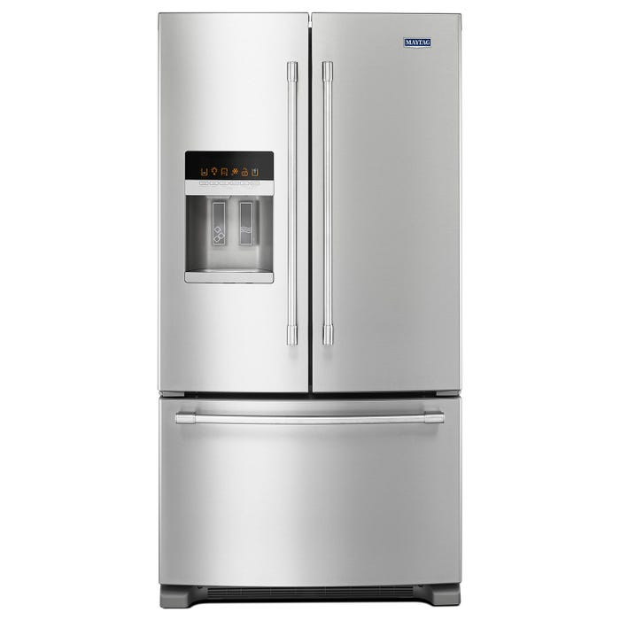 Maytag 36 inch 25 cu.ft. french doors refrigerator in stainless steel MFI2570FEZ