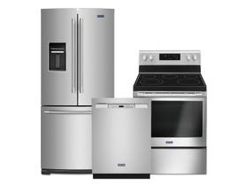 Maytag 3pc Appliance Package in Stainless Stainless MFW2055FRZ MDB4949SKZ YMER6600FZ
