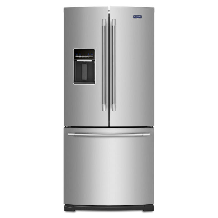Maytag 30 inch 20 cu.ft. french doors refrigerator in stainless steel MFW2055FRZ