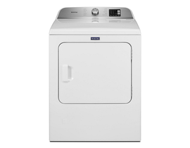 Maytag 29 inch 7.0 cu. ft. Top Load Gas Dryer with Advanced Moisture Sensing in White MGD6200KW