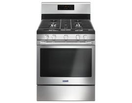Maytag 30 inch 5.0 cu. ft. Free Standing Gas Range in Stainless Steel MGR6600FZ