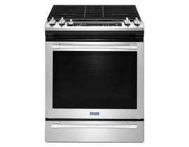 Maytag 30 inch 5.8 cu.ft. fan convection gas range in stainless steel MGS8800FZ