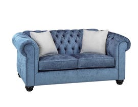 SBF Upholstery Mia Fabric Loveseat in Lapis/ TP Lapis 2525
