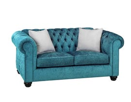 SBF Upholstery Mia Fabric Loveseat in Blue Ridge/TP Blue Ridge 2525