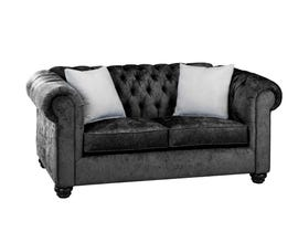 SBF Upholstery Mia Fabric Loveseat in Charcoal/TP Charcoal 2525