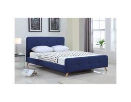 Brassex Platform Queen Bed Frame Blue 8177Q-BLU