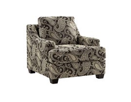 Millenium fabric Gypsum Accent Chair in multi-colour Charcoal grey 2850122