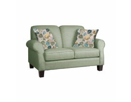Décor-Rest Joey Sky Collection Fabric Loveseat in Misty Moss/Treehouse Turquoise 2025