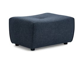 Primo International Mitan Series Ottoman in Blue 486