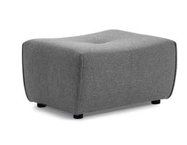 Primo International Mitan Series Ottoman in Grey 486