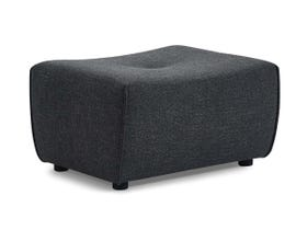 Primo International Mitan Series Ottoman in Charcoal 486