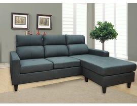 Modern Furniture Fabric Sectional in Dark Grey MS-G