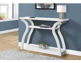 Monarch Accent Table Hall Console in White 12438