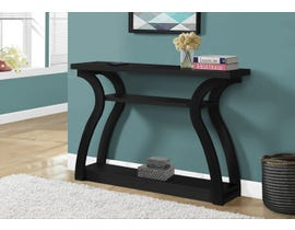 Monarch Accent Table Hall Console in Black 12439