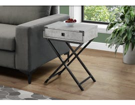 Monarch Black Nickel Accent Table in Grey Cement 13552
