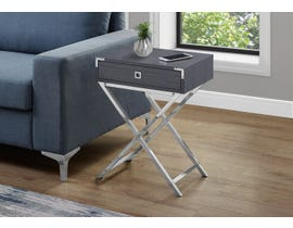 Monarch Chrome Accent Table in Grey 13554