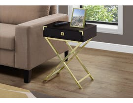 Monarch Gold Metal Accent Table in Cappuccino 13556