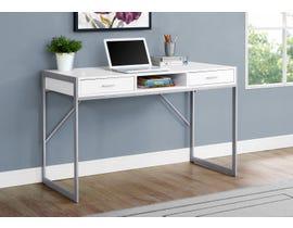 Monarch Metal Computer Desk in White 17364