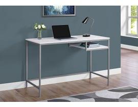 Monarch Metal Computer Desk in White 17368