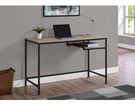Monarch Metal Computer Desk in Dark Taupe 17370