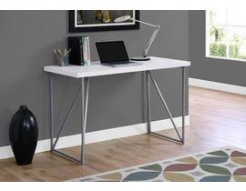 Monarch Metal Computer Desk in White 17376