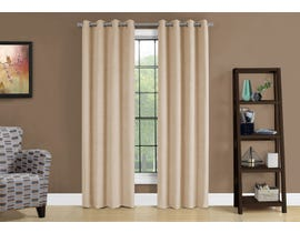 "Monarch Fabric Curtain Panel in Beige 54"" x 95"" I9801"