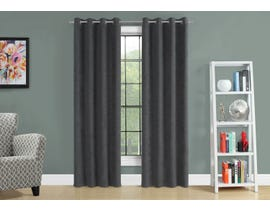 "Monarch Fabric Curtain Panel in Grey 54"" x 95"" I9804"