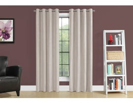 "Monarch Fabric Curtain Panel in Ivory 54"" x 84"" I9817"