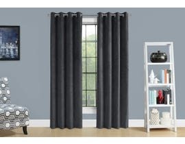 "Monarch Fabric Curtain Panel in Grey 52"" x 84"" 19823"