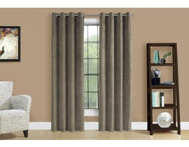 "Monarch Fabric Curtain Panel in Taupe 52"" x 84"" I9826"