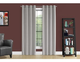 "Monarch Fabric Curtain Panel in Silver 52"" x 84"" I9835"