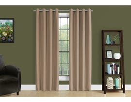 "Monarch Fabric Curtain Panel in Brown 52"" x 95"" I9839"