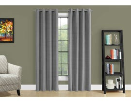 "Monarch Fabric Curtain Panel in Grey 52"" x 84"" I9841"