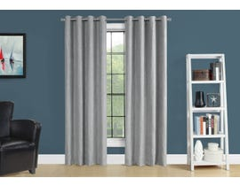 "Monarch Fabric Curtain Panel in Grey 52"" x 84"" I9844"
