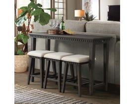 High Society Morrison 4-Piece Table Stool Set in Somkey Grey Oak