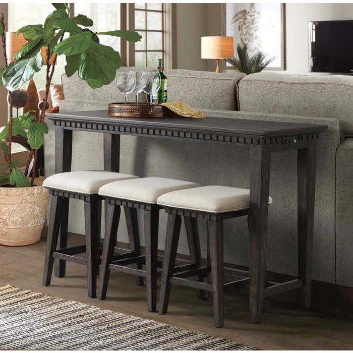 Strange High Society Morrison 4 Piece Table Stool Set In Somkey Grey Oak Download Free Architecture Designs Xoliawazosbritishbridgeorg