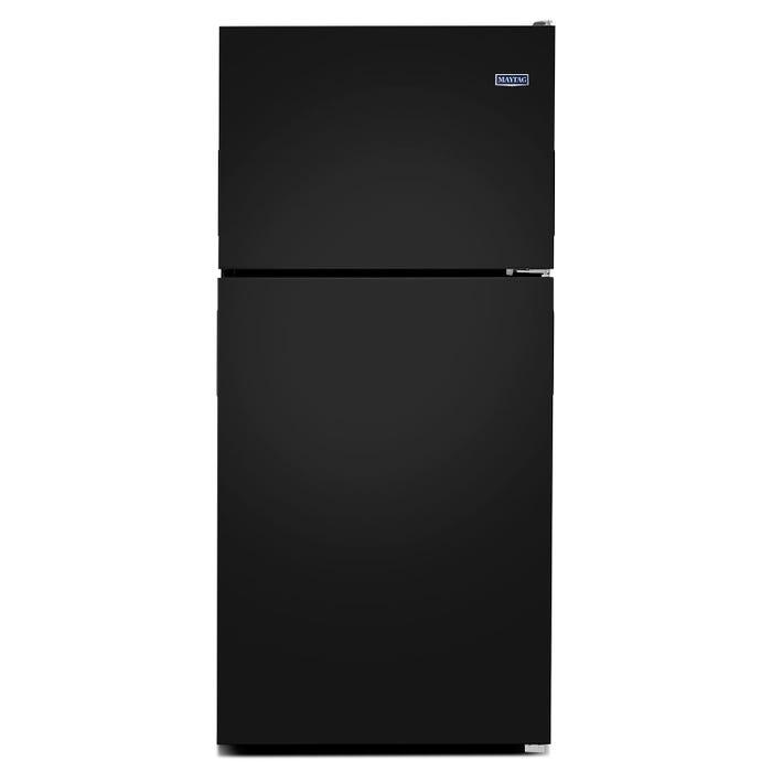Maytag 30 inch 18 cu.ft. top freezer refrigerator in black MRT118FFFE