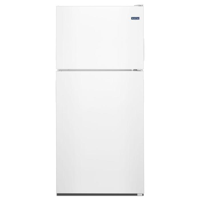 Maytag 30 inch 18 cu.ft. top freezer refrigerator in white MRT118FFFH