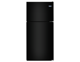 "Maytag 33"" 21 cu. ft. Top Freezer Refrigerator with PowerCold Feature in Black MRT311FFFE"