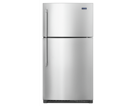 "Maytag 33"" 21 cu. ft. Top Freezer Refrigerator with EvenAir Cooling Tower in Stainless Steel MRT711SMFZ"