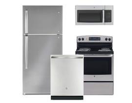 GE & Moffat 3pc Appliance Package in Stainless Steel MTE18GSKSS JCB530SMSS GBT632SSMSS