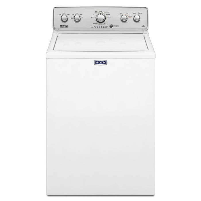 Maytag 4.9 cu.ft. Top Load Washer PowerWash cycle in white MVWC565FW