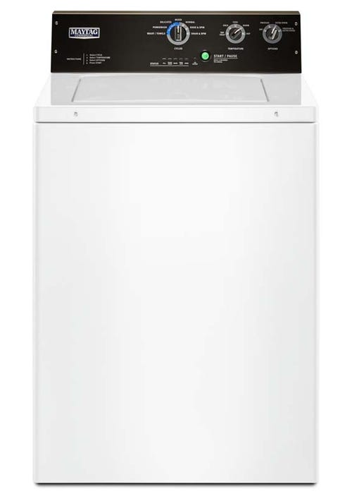 Maytag 27 inch. 4.0 CU. Ft. Commercial Grade Residential Agitator Top Load Washer MVWP575GW